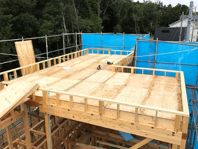 千葉県若葉区新築戸建て施工状況|2017年10月06日|02
