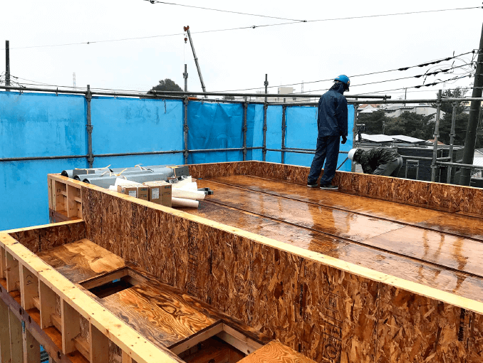 千葉県若葉区新築戸建て施工状況|2017年10月10日|02