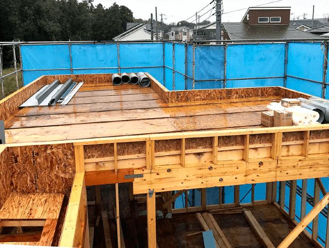千葉県若葉区新築戸建て施工状況|2017年10月10日|04