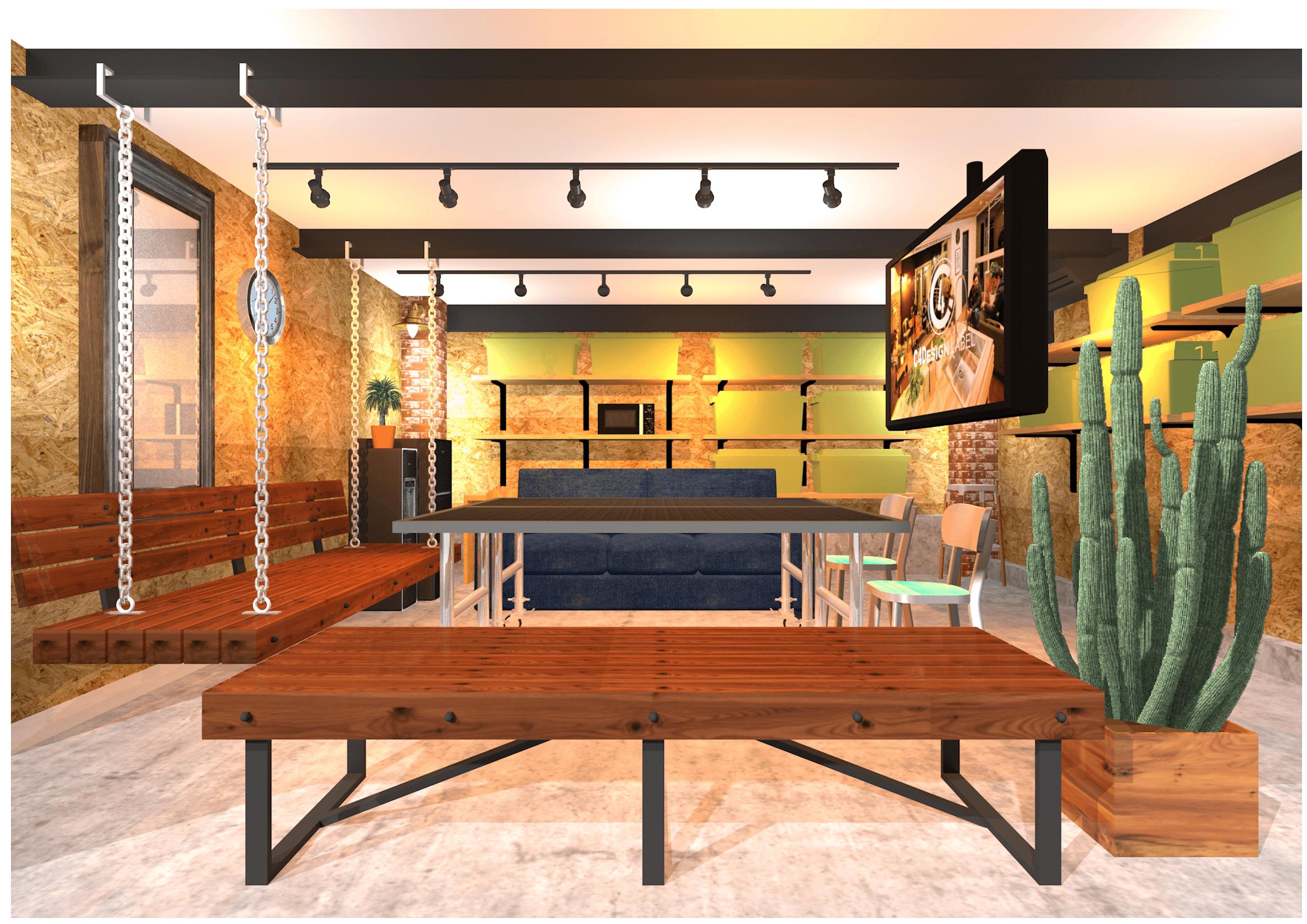 オフィス休憩室リノベーション提案プラン|店舗内装工事