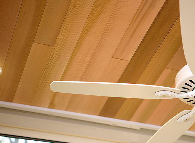 杉板張り天井