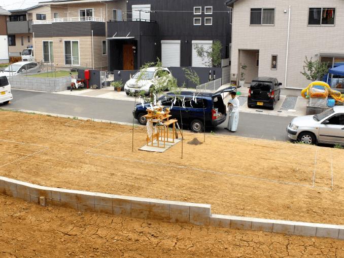 千葉県若葉区新築戸建て施工状況|2017年7月25日|01