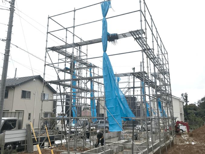 千葉県若葉区新築戸建て施工状況|2017年9月22日|01