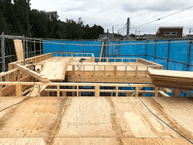千葉県若葉区新築戸建て施工状況|2017年10月06日|01