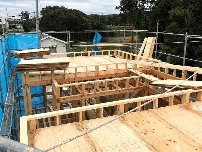 千葉県若葉区新築戸建て施工状況|2017年10月06日|03