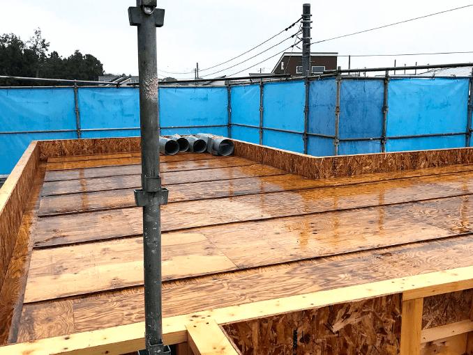 千葉県若葉区新築戸建て施工状況|2017年10月10日|01