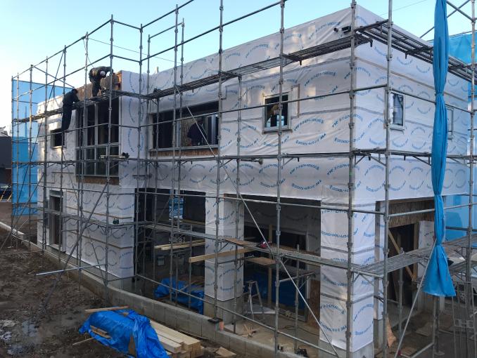 千葉県若葉区新築戸建て施工状況|2017年10月18日|01